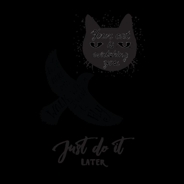 Временная тату набор Кота орла с надписями