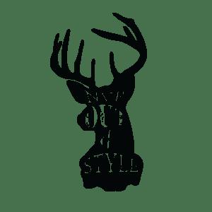 Временное тату черный олень с надписями