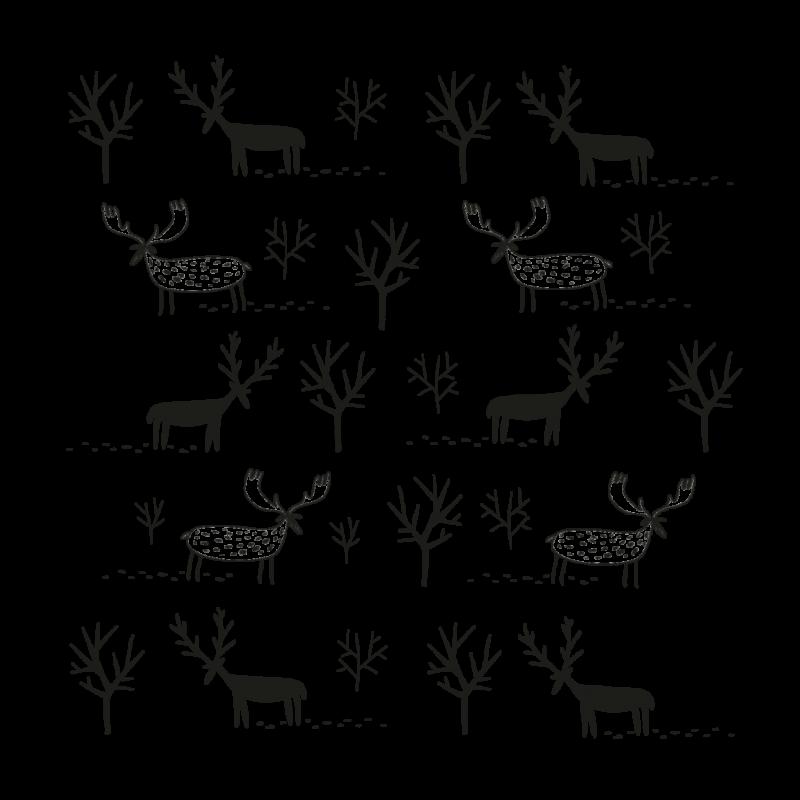 Временная тату стадо маленьких оленей