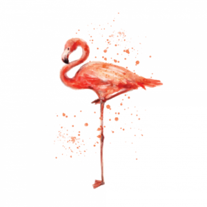 Временная тату фламинго розовый