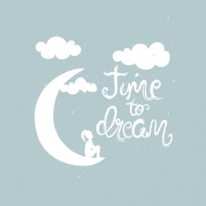 Переводная тату белая Time to dream