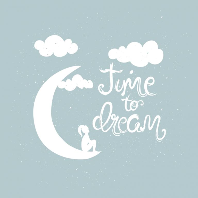 Переводная тату белая Time to dream