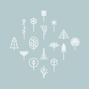 Временное тату Белый лес