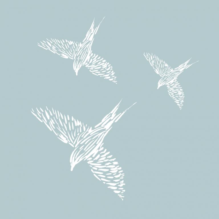 Времення тату Птички белые