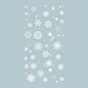 Временная тату снежинки белые