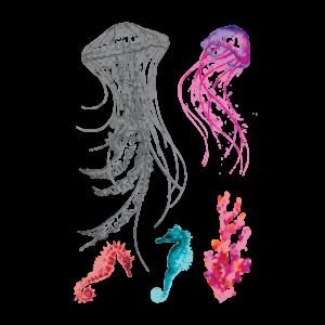 Временная тату набор Медузы