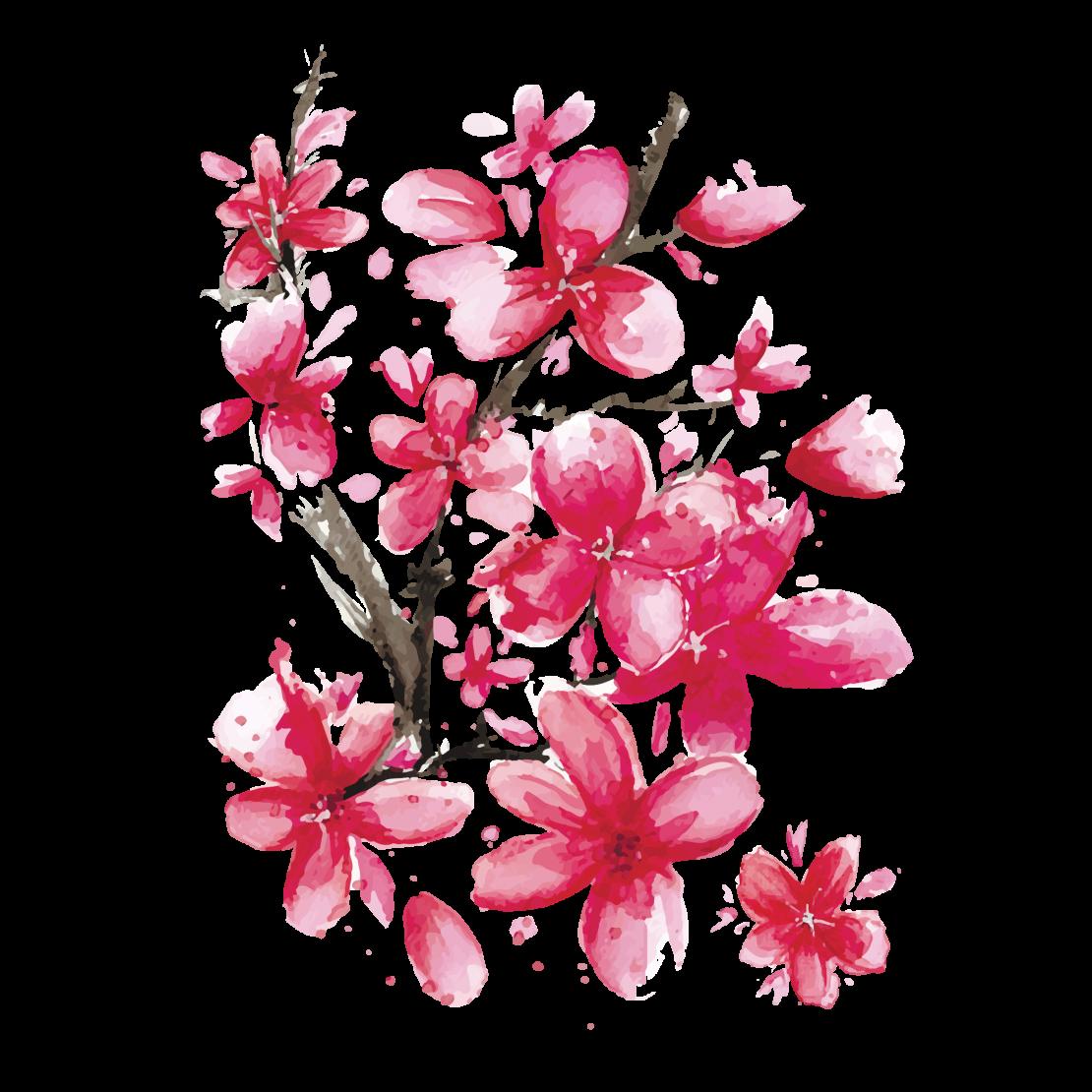 Временная тату Сакура розовая