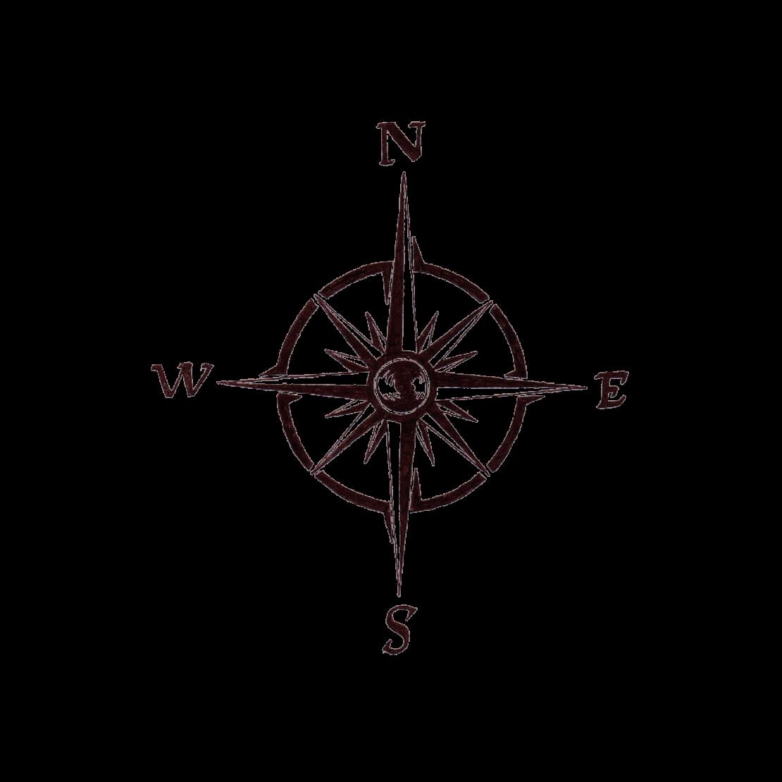 Временная тату компас