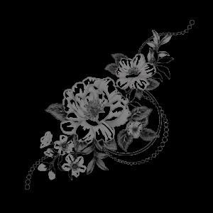 Временное тату Графические цветы