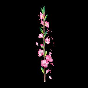 Временная тату веточка вишни