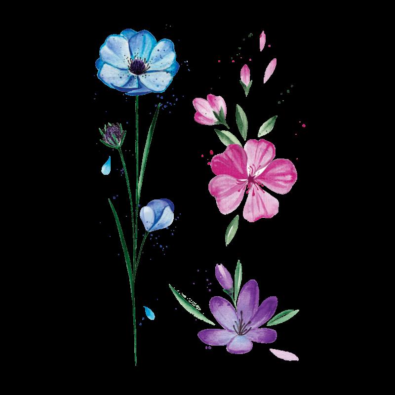 тату весенние цветы