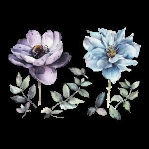 Временная татуировка Летние цветы