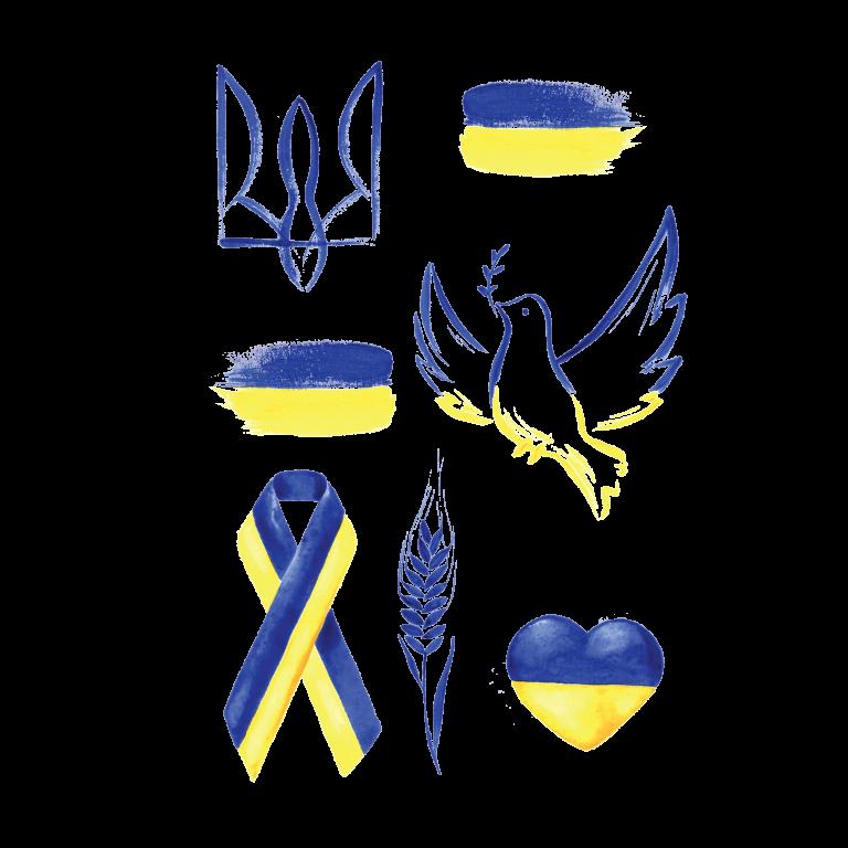 Временная тату Украина