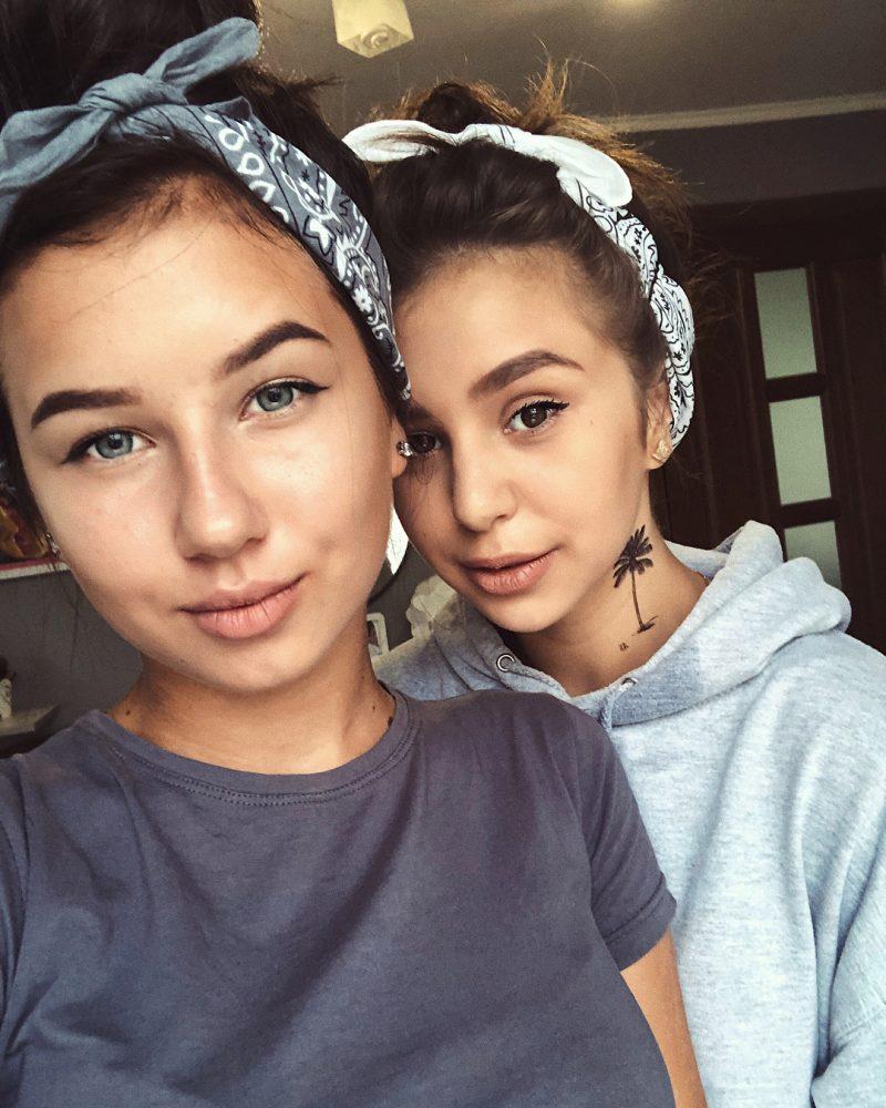 Временная тату пальма на девочках