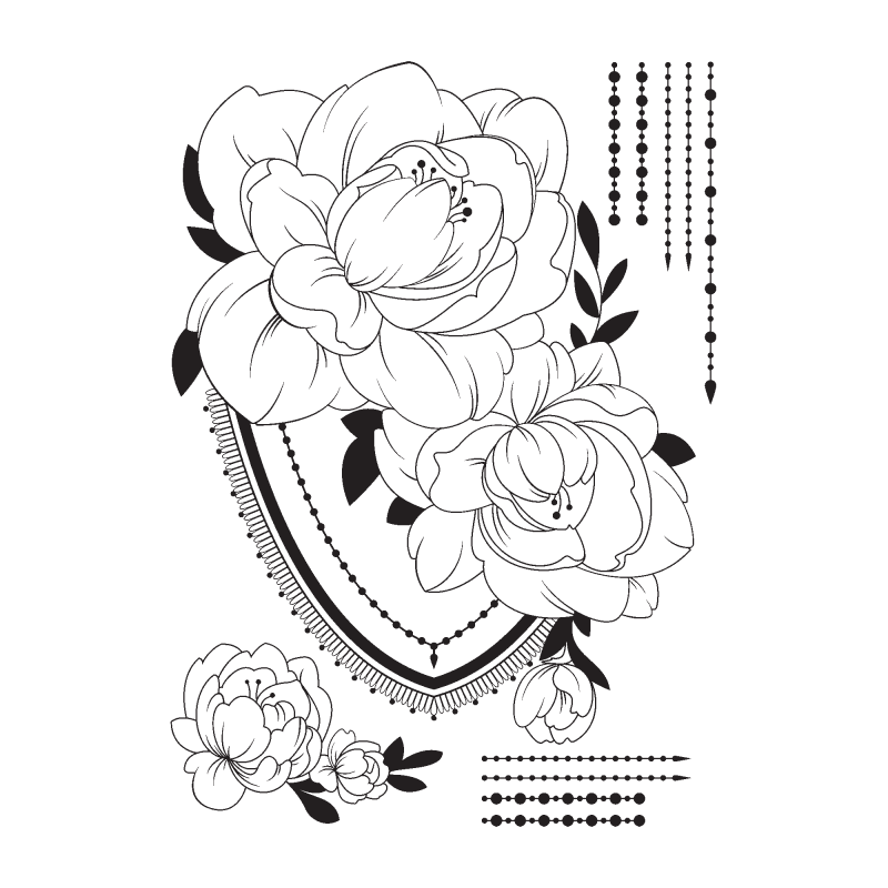 Временная тату черная момент расцвета