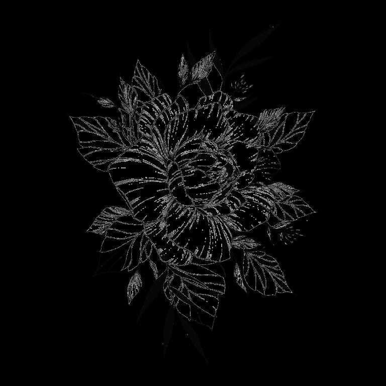 Временное тату принцеса цветов