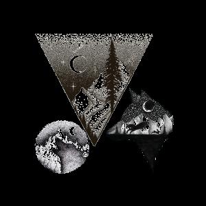 Временная тату горный волк