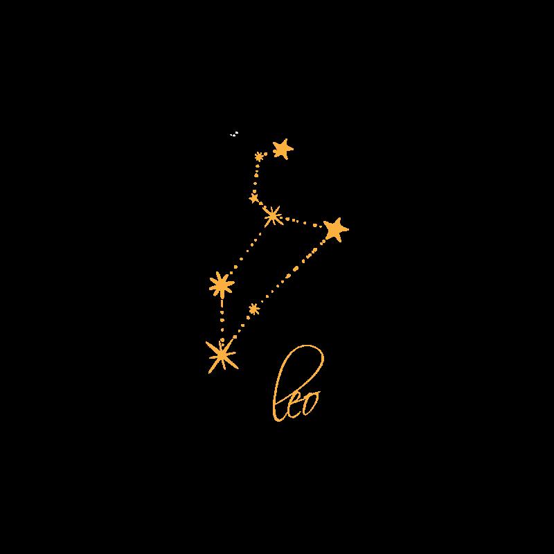 Золотая временная тату Знак зодиака Лев