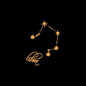 Временное тату со знаком зодиака Терезы