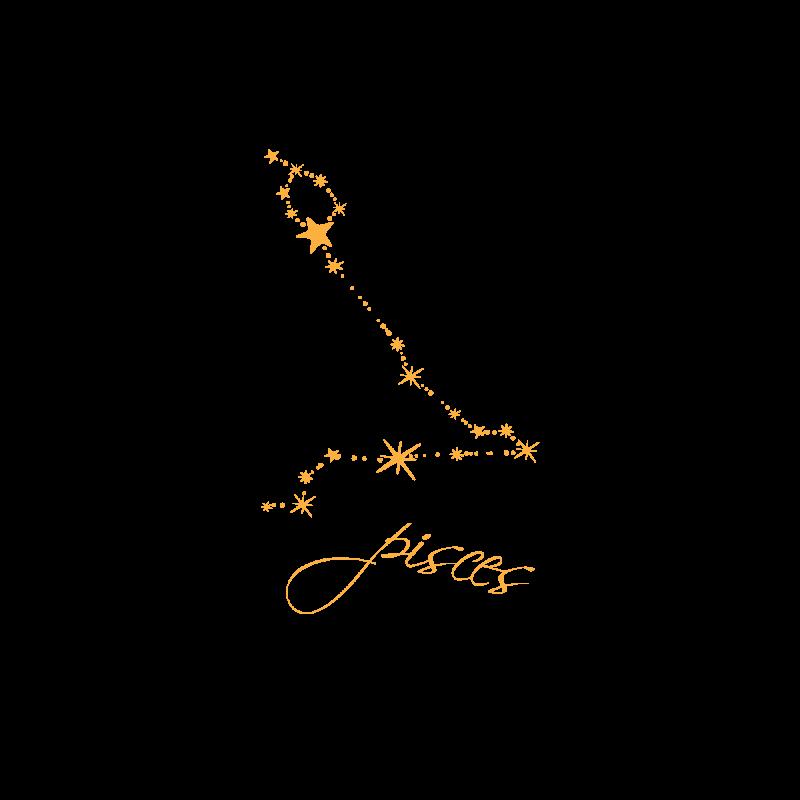 Временное тату знак зодиака Рыбы