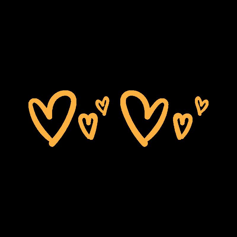 Временные тату золотые сердечки