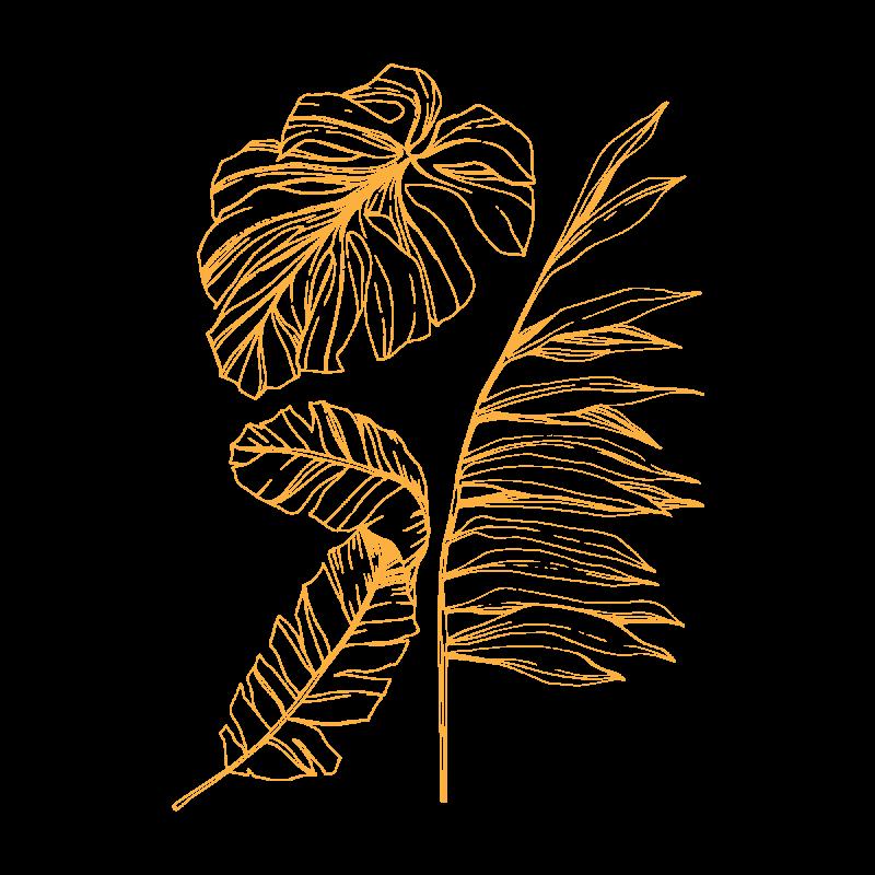 Золотая временная тату листья в золоте