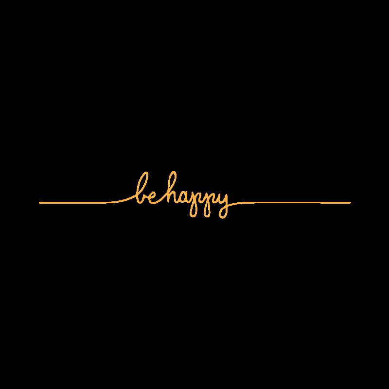 Золотое временное тату Be happy