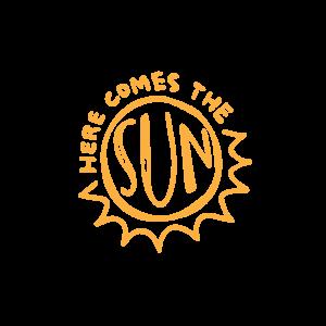 Золотая временная тату Его величество солнце