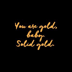 Временная тату чистое золото